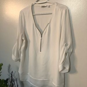 Reitmans styling white blouse